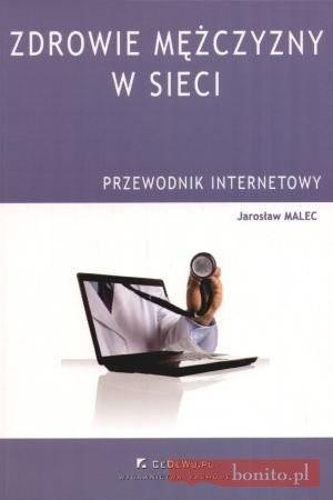 Okładka książki zdrowie mężczyzny w sieci. Przewodnik internetowy