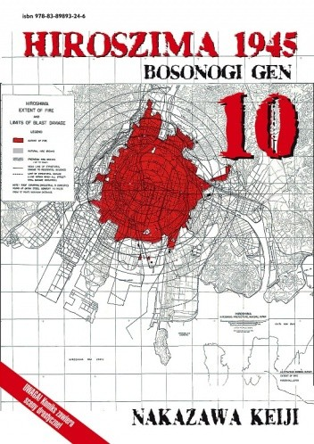 Okładka książki Hiroszima 1945. Bosonogi Gen 10