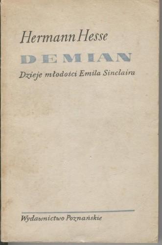 Okładka książki Demian. Dzieje młodości Emila Sinclaira
