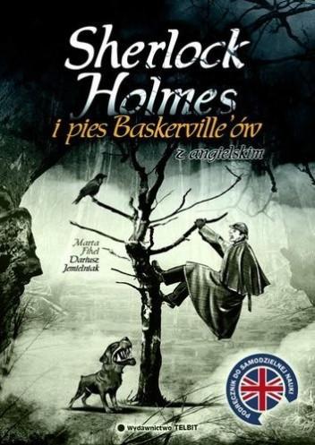 Okładka książki Sherlock Holmes i Pies Baskerville'ów... z angielskim
