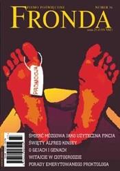 Okładka książki Fronda nr 36 wakacje 2005. Śmierć mózgowa