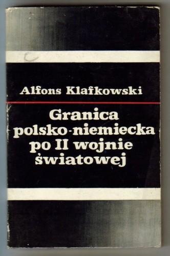 Okładka książki Granica polsko-niemiecka po II wojnie światowej