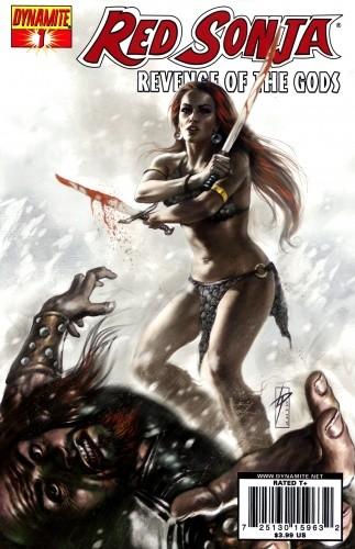 Okładka książki Red Sonja - Revenge of the Gods 01