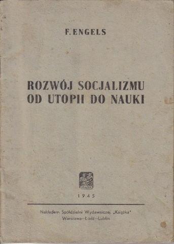 Okładka książki Rozwój Socjalizmu. Od utopii do nauki