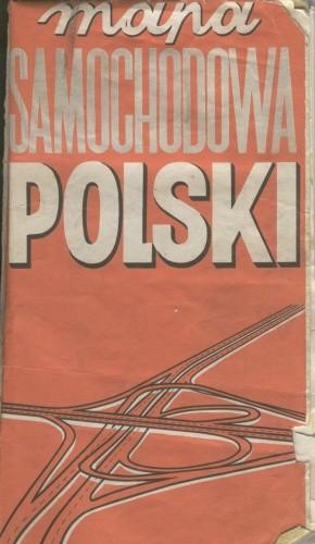 Okładka książki Mapa samochodowa Polski