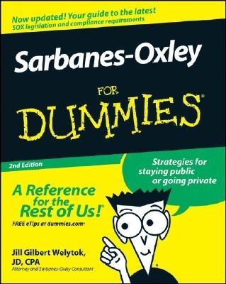 Okładka książki Sarbanes-Oxley for Dummies