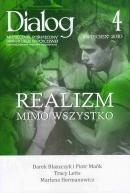 Okładka książki Dialog, nr 4 (641) / kwiecień 2010. Realizm mimo wszystko