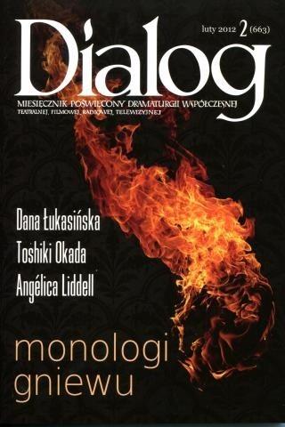Okładka książki Dialog, nr 2 (663) / luty 2012. Monologi gniewu
