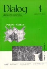 Okładka książki Dialog, nr 4 / kwieceń 2006. Polski Matrix