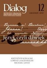 Okładka książki Dialog, nr 12 / grudzień 2007. Język czyli dźwięk
