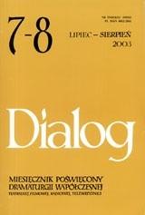 Okładka książki Dialog, nr 7-8 / wakacje 2003