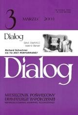 Okładka książki Dialog, nr 3 / marzec 2003