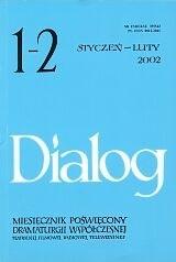 Okładka książki Dialog, nr 1-2 / styczeń-luty 2002