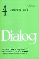 Okładka książki Dialog, nr 4 / kwieceń 2002
