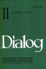 Okładka książki Dialog, nr 11 / listopad 2002