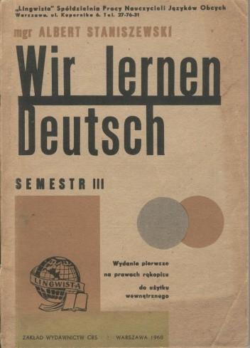 Okładka książki Wir lernen Deutsch. Semestr III