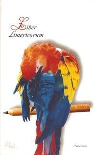 Okładka książki Liber Limericorum to jest Wielka Xięga Limeryków i Innych Utworów Ku Czci Jej Wysokości Królowej Loży Teresy Walas jako też przy Innych Okazjach Sposobnych przez Limeryczną Lożę Jej Admiratorów Ułożonych