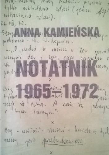 Okładka książki Notatnik 1965-1972