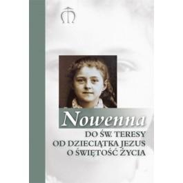 Okładka książki Nowenna do św. Teresy od Dzieciątka Jezus o świętość życia