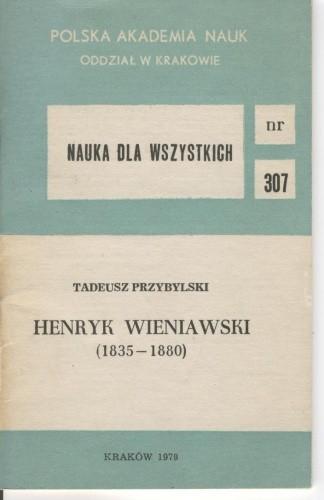 Okładka książki Henryk Wieniawski (1835-1880)
