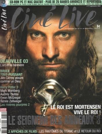 Okładka książki Ciné Live 71 (9/2003)