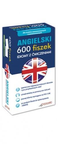Okładka książki Angielski 600 fiszek Idiomy z ćwiczeniami