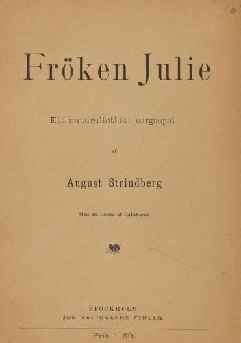 Okładka książki Panna Julia