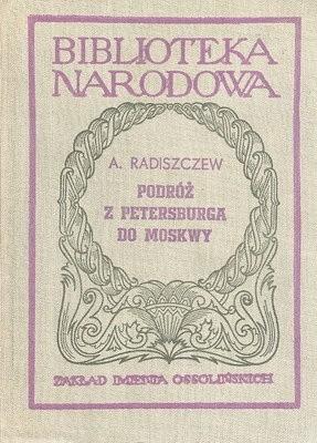 Okładka książki Podróż z Petersburga do Moskwy
