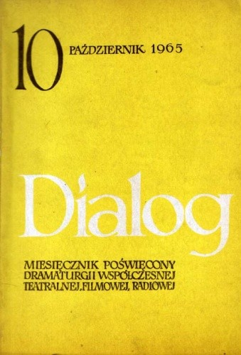 Okładka książki Dialog, nr 10 (114) / 1965