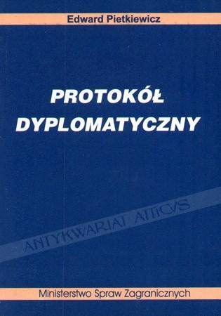 Okładka książki Protokół dyplomatyczny