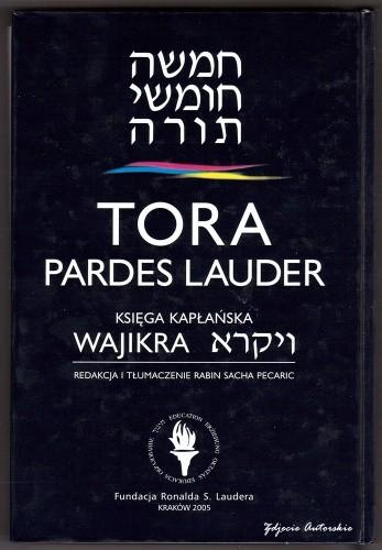 Okładka książki Tora Pardes Lauder. Wajikra  - Księga Kapłańska