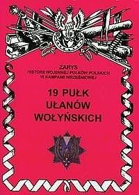 Okładka książki 19 pułk Ułanów Wołyńskich