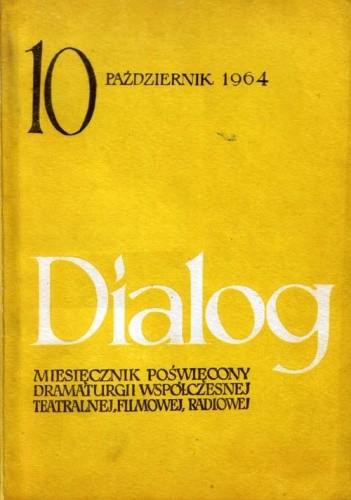 Okładka książki Dialog, nr 10 (102) / październik 1964