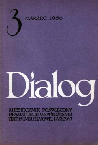 Okładka książki Dialog, nr 3 (119) / marzec 1966