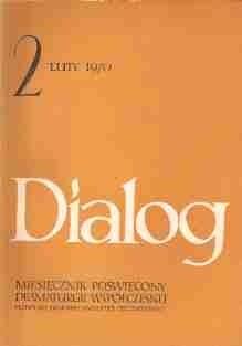 Okładka książki Dialog, nr 2 / luty 1970
