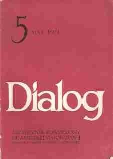 Okładka książki Dialog, nr 5 / maj 1971