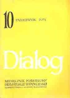 Okładka książki Dialog, nr 10 / październik 1971