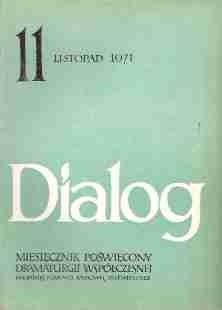 Okładka książki Dialog, nr 11 / listopad 1971