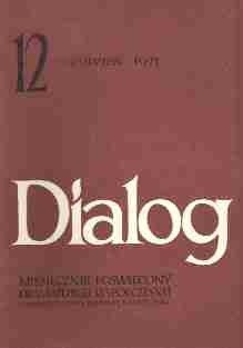 Okładka książki Dialog, nr 12 / grudzień 1971