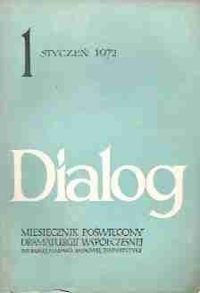 Okładka książki Dialog, nr 1 / styczeń 1972