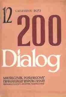 Okładka książki Dialog, nr 12 / grudzień 1972