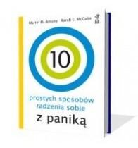 Okładka książki 10 prostych sposobów radzenia sobie z paniką