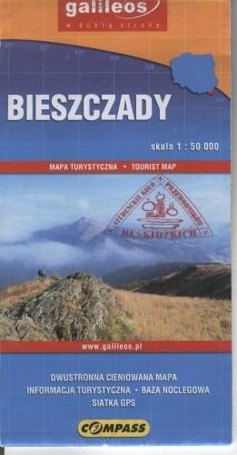 Okładka książki Bieszczady. Mapa turystyczna