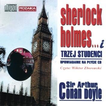 Okładka książki Sherlock Holmes i trzej studenci