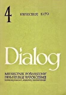 Okładka książki Dialog, nr 4 / kwiecień 1979