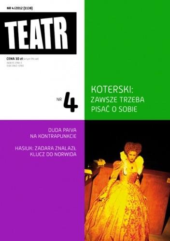Okładka książki Teatr Nr 4/2012 (1138)
