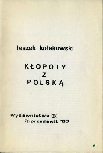 Okładka książki Kłopoty z Polską