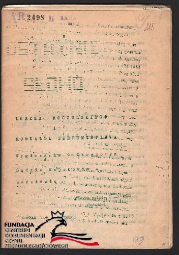 Okładka książki Ostatnie słowo wygłoszone w Okręgowym Sądzie  Wojskowym w Warszawie