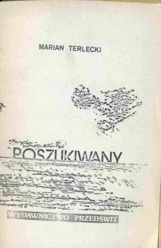 Okładka książki Poszukiwany
