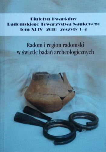 Okładka książki Radom i region radomski w świetle badań archeologicznych